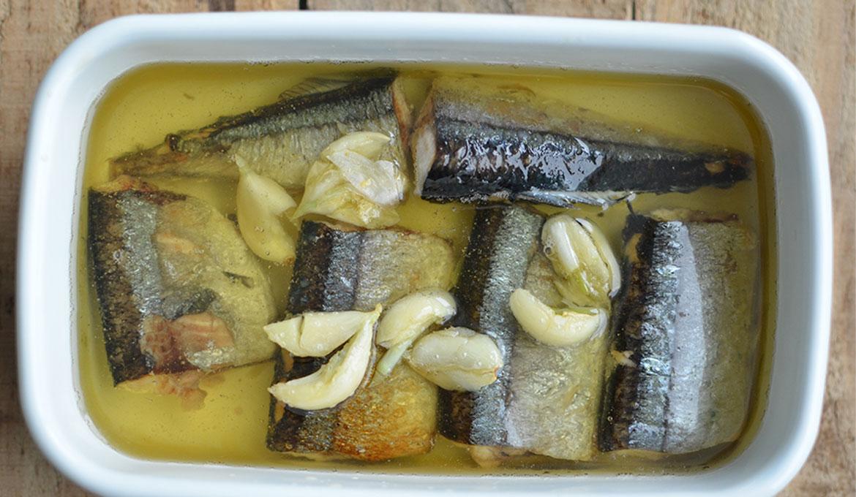 化骨油漬秋刀魚