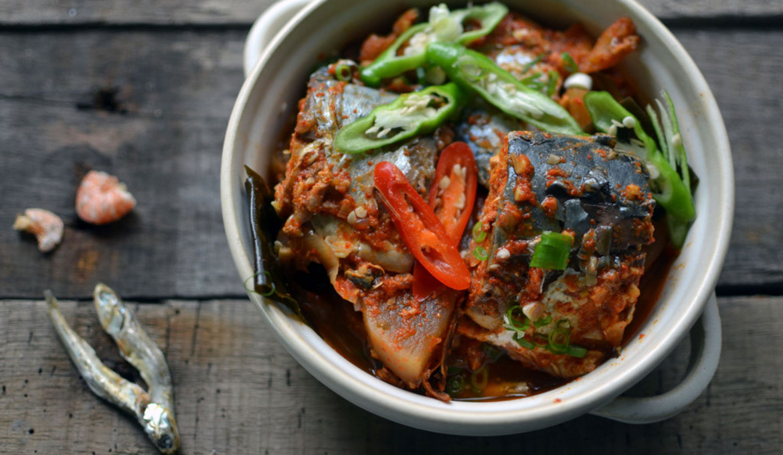 韓式辣蘿蔔燉鯖魚