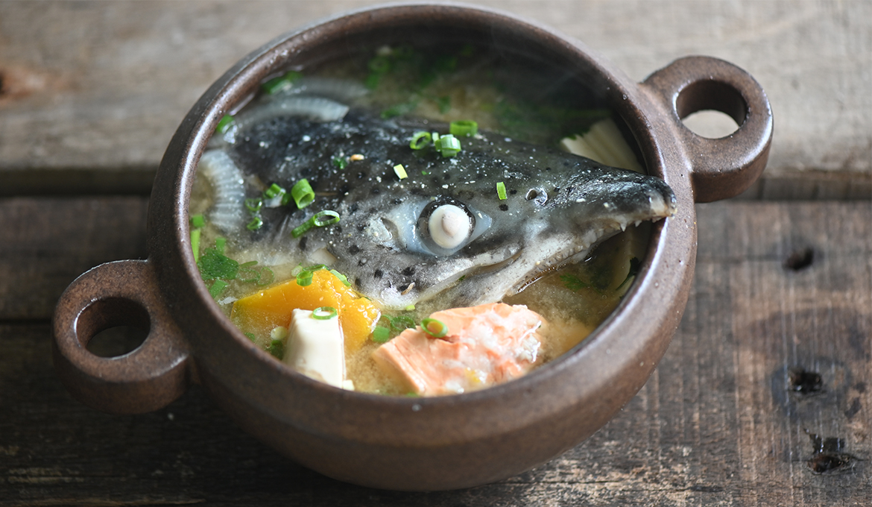 鮭魚頭味噌湯