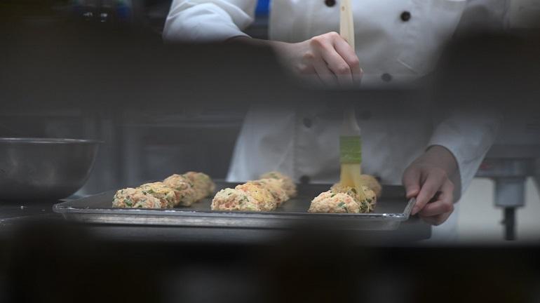 櫻花蝦青蔥起司司康