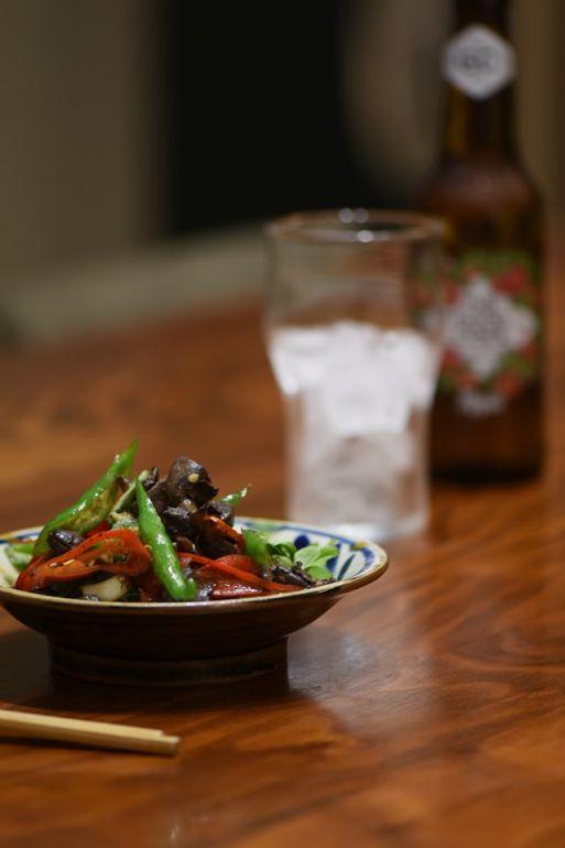 糯米椒炒小藍莓