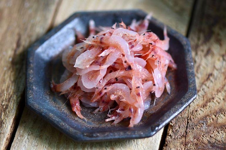 新鮮急凍的生櫻花蝦