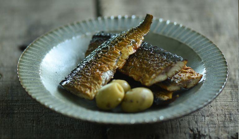 煙燻秋刀魚