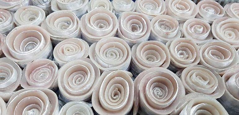 白帶魚卷花