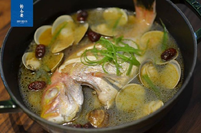 麻油蛤蠣鮮魚湯