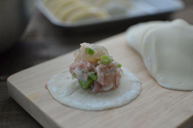 四季豆蝦仁水餃