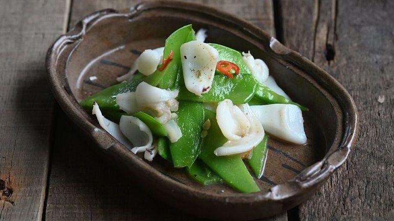 清炒花枝荷蘭豆