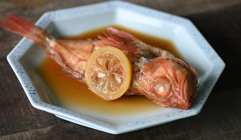 檸檬醬油煮石狗公魚
