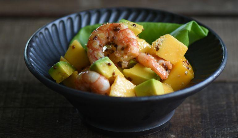 酪梨芒果蝦沙拉