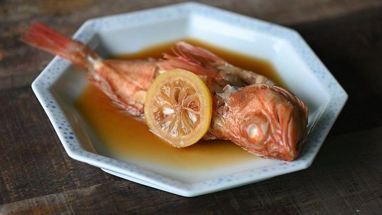 檸檬醬油燒石狗公魚