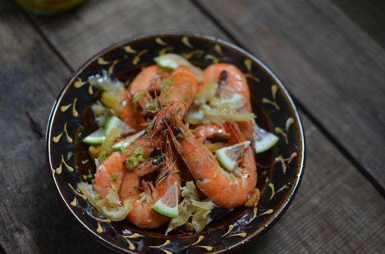 吃蝦的樂趣