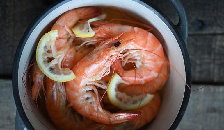 無水鍋奶油檸檬蝦