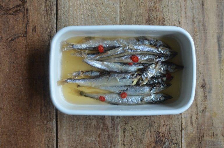 甘醋漬柳葉魚