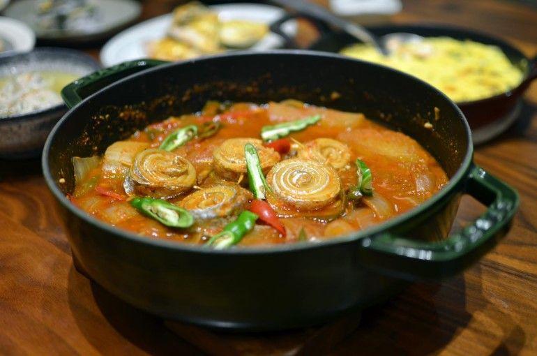 韓式辣燉白帶魚