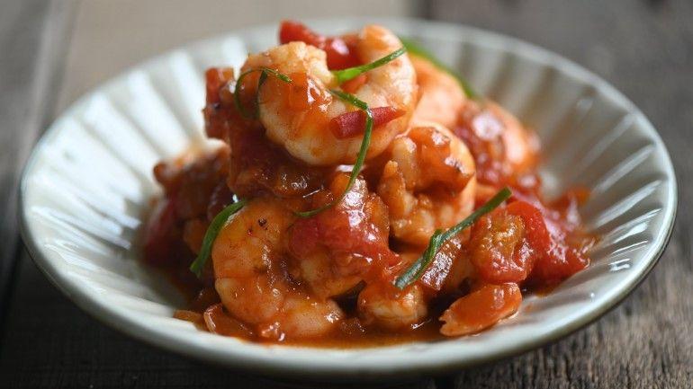 茄汁燒蝦仁
