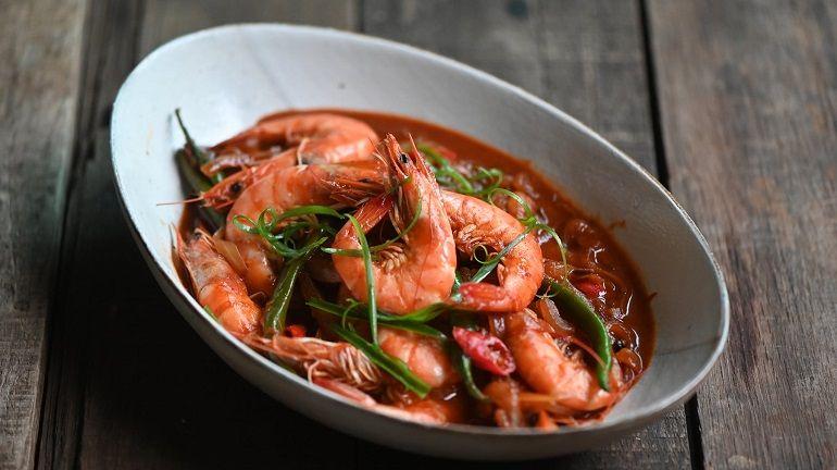 韓式辣味燒蝦