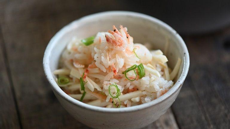 櫻花蝦乾竹筍炊飯