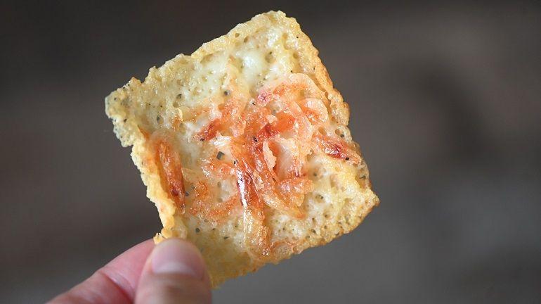 櫻花蝦脆脆起司燒