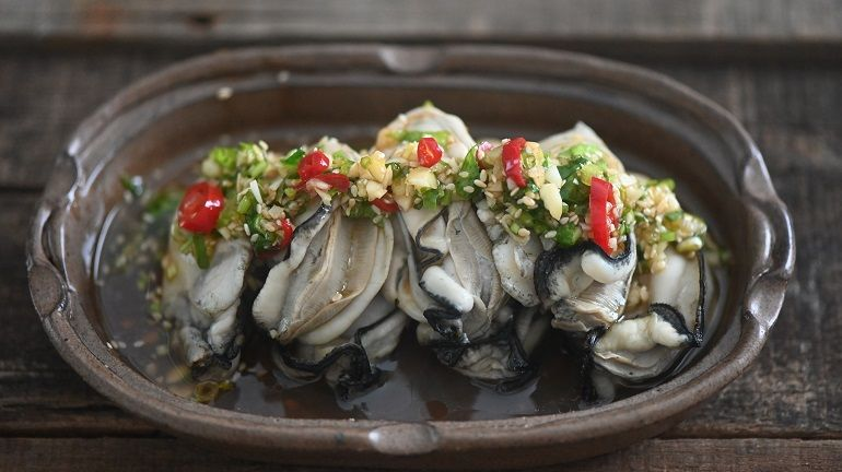 蒜蓉醬淋牡蠣
