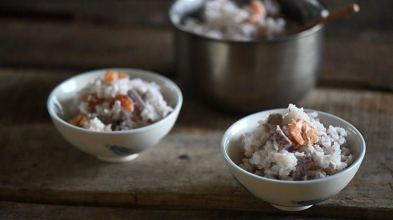 芋香蝦乾飯