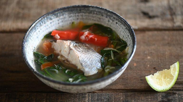 空心菜酸辣黃雞魚湯