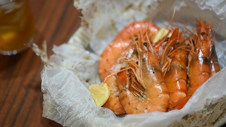 紙包檸檬奶油草蝦